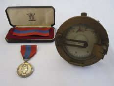 Queen Elizabeth II Imperial Service medalnamed to 'DAVID JOSEPH CHAPPLE' anda military medium