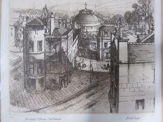"Harold Sayer (1930-1993) Etchings ""Montpellier Rotunda, Cheltenham"", limited edition 20/150, dated"