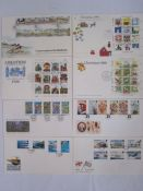 Box of mint GB decimal stamps (£100?), Jersey and Guernsey including complete sheets (1 box)