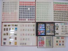 Three stock books and a bag of miscellaneous loose stamps and albums, some interesting earlier GB