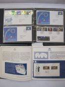 Two albums of first day covers, GB from 1990 to 1993, all with typewritten addresses, with some