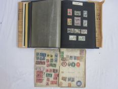 Two older stamp albums, mainly pre King George VI GB, commonwealth, also foreigns (1 cardboard box)