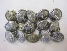 Small quantity of military buttons