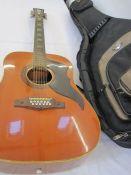 Eko acoustic 12 string guitar, cased