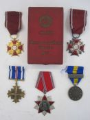 Five Polish medals including the Polish Silver Cross