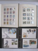 Six albums of Guernsey, Jersey and Isle of Man unmounted mint and FDCs (1 album of mint and 1