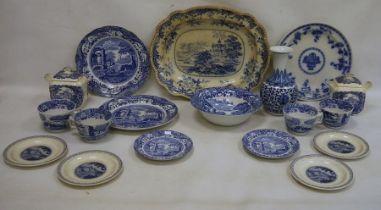Mixed blue and whiteto include Spode, Royal Cauldon, Masons, etc