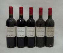 Five bottles Santa Rita 2005 Cabernet Sauvignon (5)