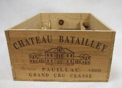 Five bottles Chateau Batailley, Pauillac, 1996, Grand Cru Classe (5)