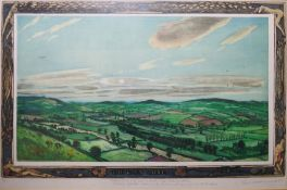 """Piers Browne (20th century) Artists proof etching """"The Clon Valley"""", signed indistinctly lower right"""