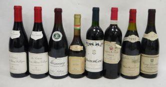 One bottle Chateau de Sours, Bordeaux 2003, one bottle Nuits-Saint-Georges 1993, one bottle Gevrey-