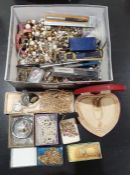Quantity of assorted costume jewelleryincluding faux-pearl necklaces, wristwatches, bangles, modern