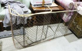 Two brass and wire nursery spark guards(2)
