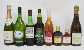 14 bottles of wines and spirits (various sizes) to include three 1l Croft Original Sherry