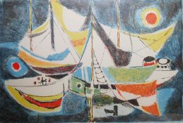 "Enrico Paulucci (Italian 1901-1999) Limited edition colour lithograph ""Ricordi Marini"", signed"