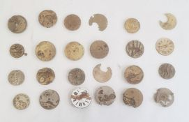 Quantity of watch and pocket watch parts (1 box)