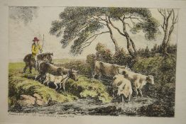 After A Hendschel's Photographsof various sketches, unframed, unsigned Coloured engraving
