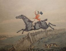 """After H Alken Two hunting plates Hunting Recollections - """"By the Lord Harry My Chestnut Horse Can"""