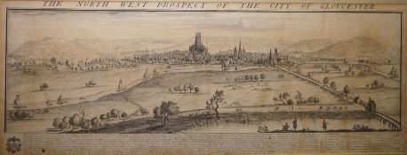 """After Samuel & Nathaniel Buck Engraving """"The North West Prospect of the City of Gloucester"""","""