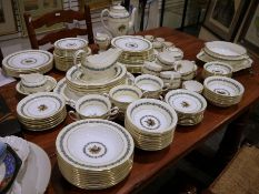 Wedgwood 'Appledore' china dinner serviceto include coffee pot, six coffee cans and saucers, four