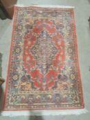 Modern Eastern-style red ground rug, 150cm x 91cm