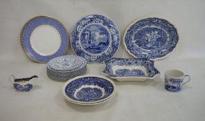Quantity of blue and white Masons 'Vista' pattern graduated jugs, Spode 'Italian' pattern mug, etc