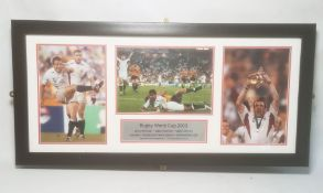 Rugby World Cup 2003Johnny Wilkinson - Jason Robinson - Martin Johnson, Australia 17 England 20,