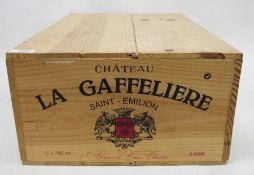 One boxed case (12 bottles) Chateau La Gaffeliere Saint-Emilion 1998