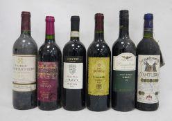 One bottle Wolf Blass President`s Selection Shiraz 2004, one bottle Chianti Riserva 2008, one bottle