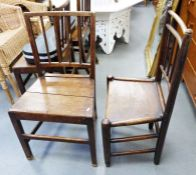 Set of four similar oak country-type chairs(4)