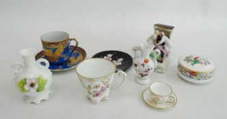Quantity of china trinket dishes, miniature Spode and other decorative items (1 box)