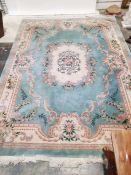 Large Chinese blue ground rug