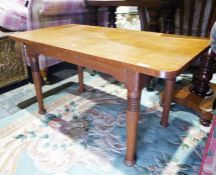 20th century oak William Birch Arts & Crafts coffee tableon turned and ringed supports