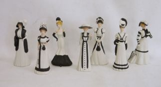 Seven Wedgwood 'The Hyde Park Collection' bisque figures