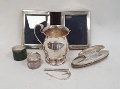 1930's silver two-handled christening mug (one handle broken), initialled and inscribed 'Presented