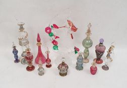 Quantity of Swarovski models, a collection of scent bottles, floral itemsand other decorative