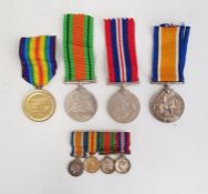Four WWII medalsto Lt RS Willis RAF and a bar of four miniatures Condition ReportVictory medal