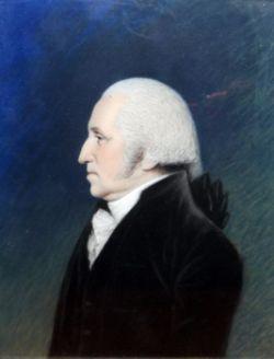 James Sharples (1751-1811) Pastel drawing Head and shoulders portrait of George Washington (1796-