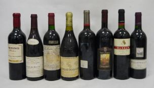 Eight bottles comprising one bottle Chateau Maucoil, Chateau-Du-Pape Cuvee Speciale 2001, one bottle