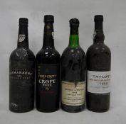 One bottle Taylor's late bottled vintage port 1999, one bottle Triple Crown Croft port, one bottle