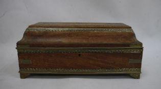 Eastern-style and metal inlaid box on bracket feet