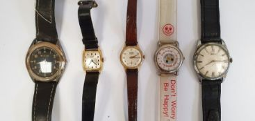 Assorted watches, 'The Acme Thunderer' whistle, a Victorian half-length photographof a young lady