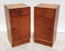 Meredew oak chest of four drawers and two bedside chests(3)