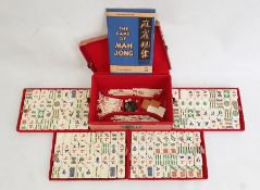 Mahjong setin card carrying case Condition Report Heavy wear to card carrying case. Some marking,