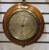 Early 20th century barometer, by Callaghan, the circular steel dial marked 'Callaghan 23a New Bond