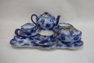 20th century Ridgways Verona pattern earthenware cabaret servicecomprising three cups, saucers,