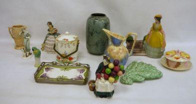 Royal Doulton 'The Old Balloon Seller'HN1315,Sylvac jug, Sylvac ceramic wall vase, 20th century