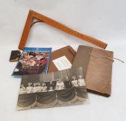 Quantity of ephemerato include royal postcards, photographs, in black tin box