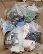 Large quantity of assorted loose beads, bead making equipmentand beaded necklaces(2 boxes)