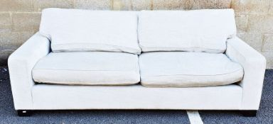 Modern Kingcome Sofas large three-seat sofain pale cream upholstery Condition Report Significant